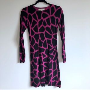 Michael Kors Giraffe Print Dress | XXS